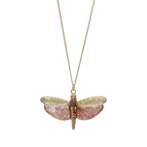 And Mary Libellule avec collier en or peint à la main 092
