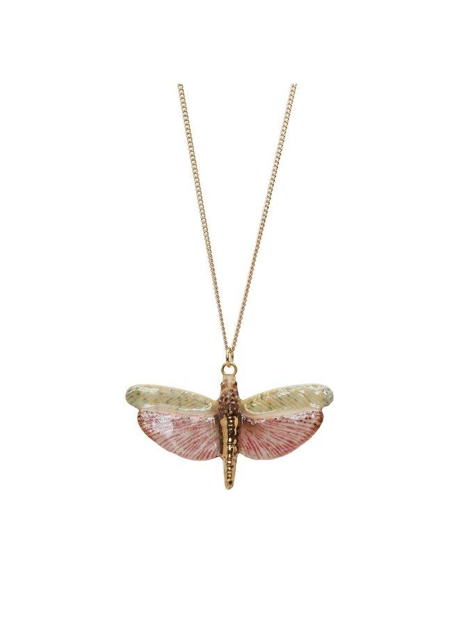 Libelle mit Goldkette handbemalt 092