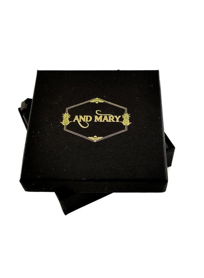 Hummerkette handbemalt mit Gold 086