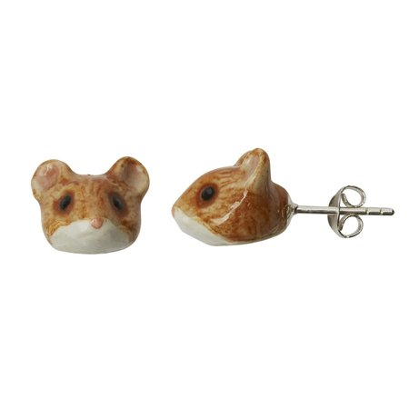 And Mary Mouse tiny stud earrings hand painted 085