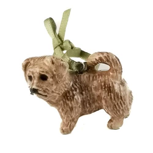 And Mary Brindle Terrier Dog Charm handbemalt 101
