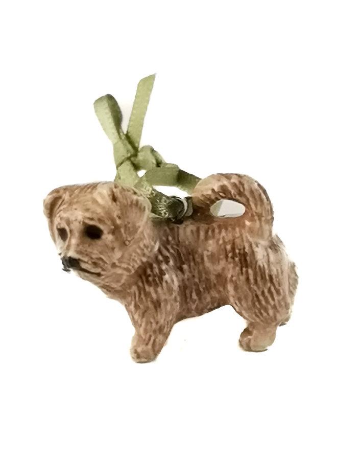 Brindle Terrier Chien breloque peint à la main 101