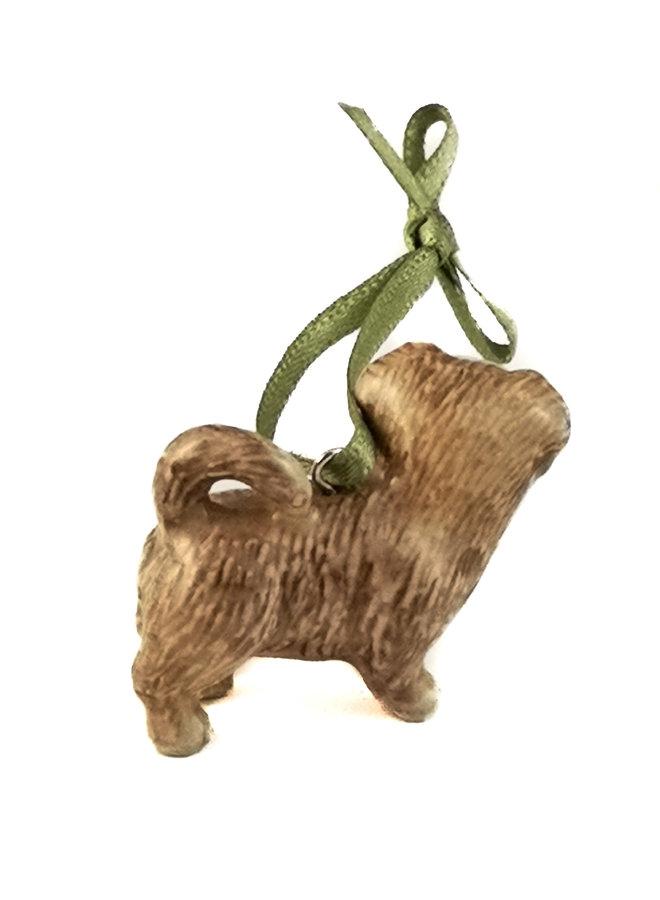 Brindle Terrier Dog Charm handbemalt 101