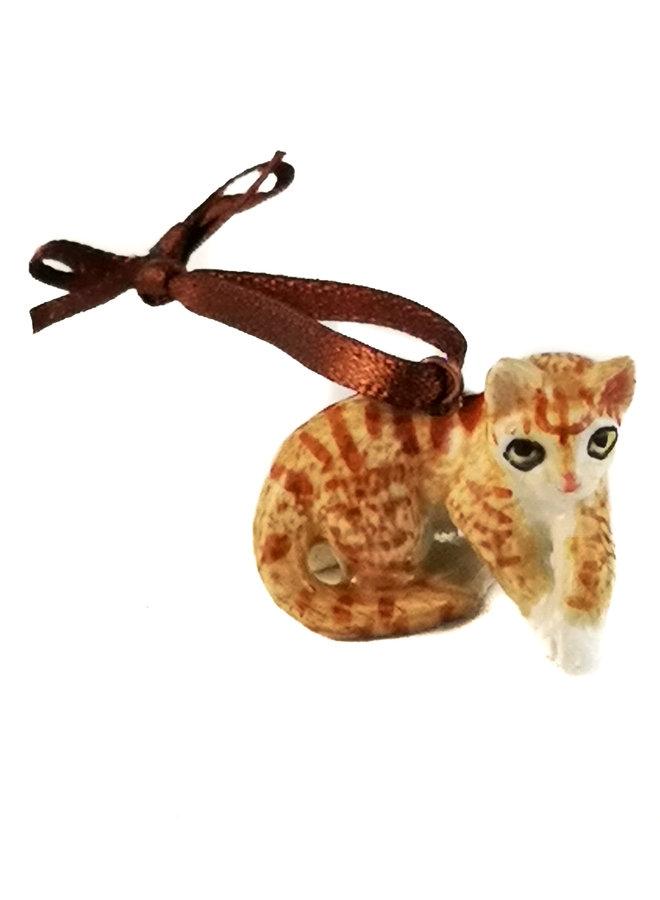 Breloque Ginger Cat peinte à la main 099
