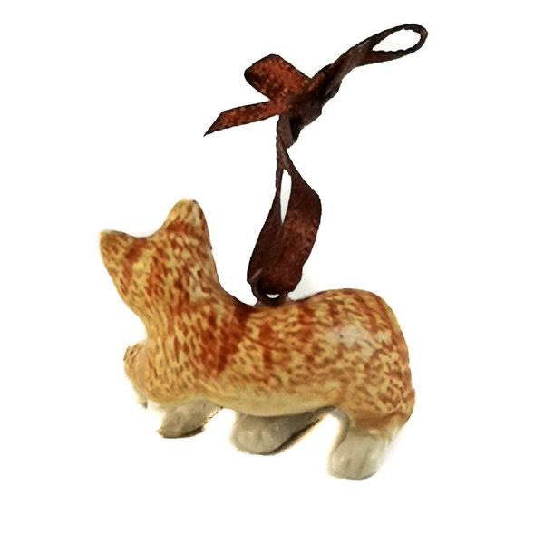 Ingwer Katze Charme handbemalt 099