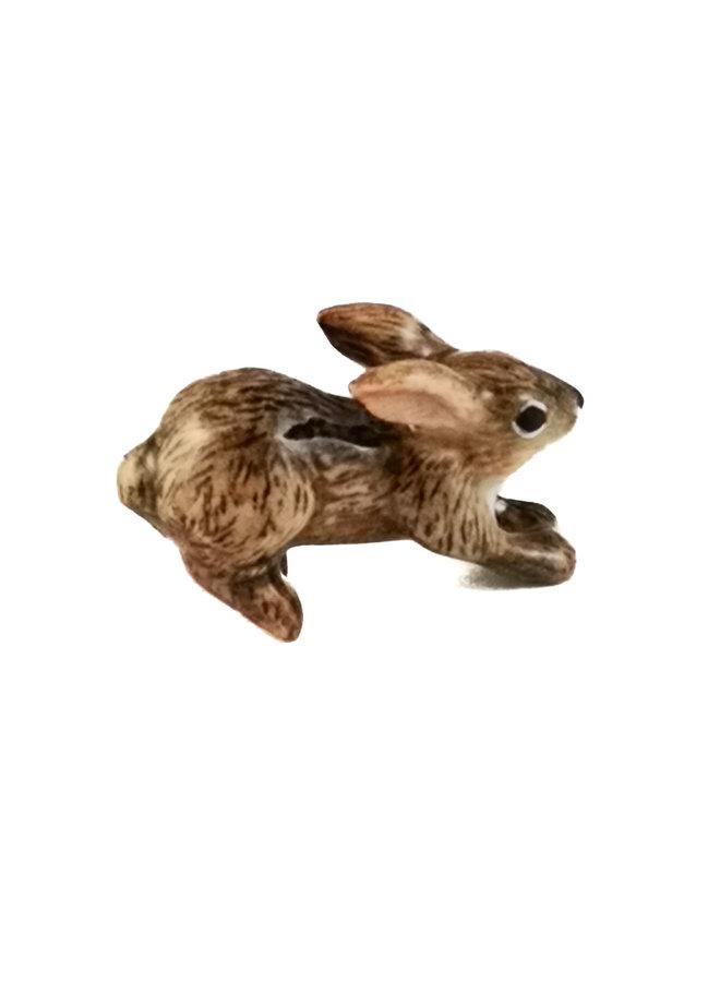 Breloque Leaping Brown Bunny peint à la main 100