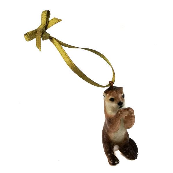Otter Stehender Charme handbemalt 095