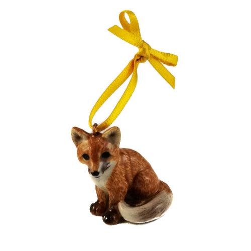 And Mary Sitting Fox Charm handbemalt 098