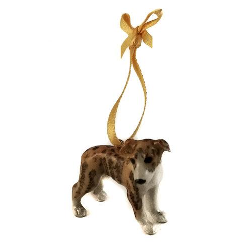 And Mary Colgante Whippet Dog pintado a mano 102