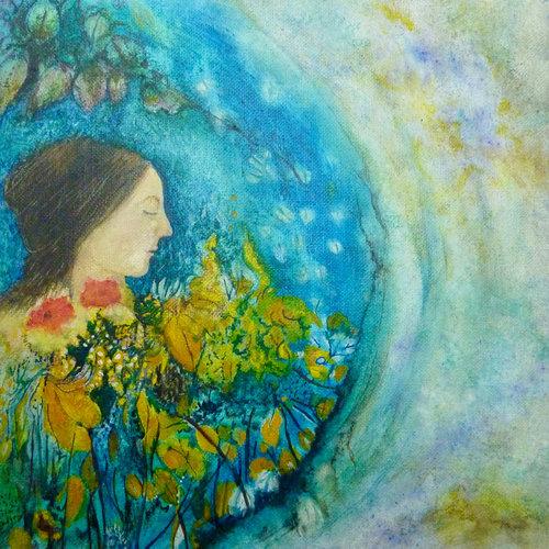 Louise Oliver In Blumen schwimmen 41