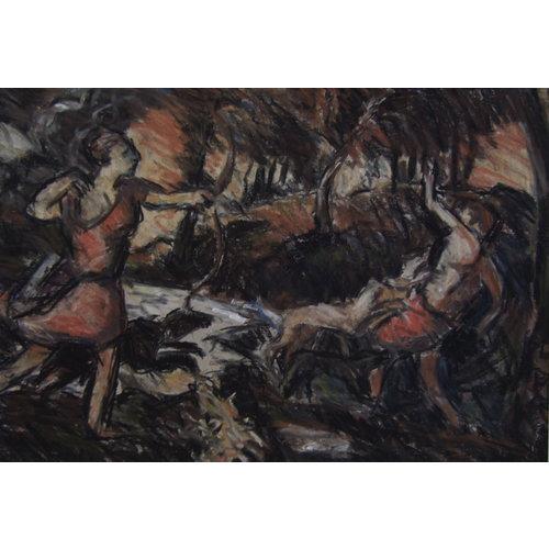 Barry De More Der Tod von Actaeon nach Tizian 034