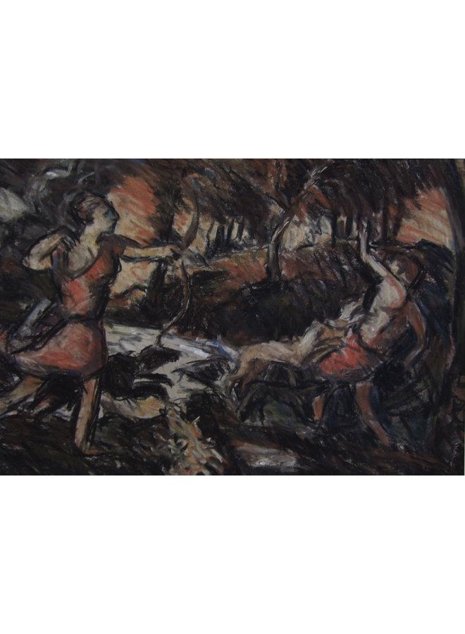 Der Tod von Actaeon nach Tizian 034