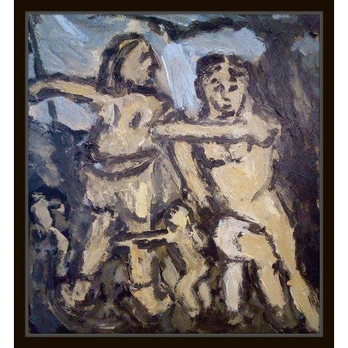 Barry De More Vénus et Adonis, une esquisse d'après Rubens 033