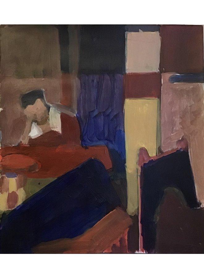 Frau schläft nach Vermeer 030