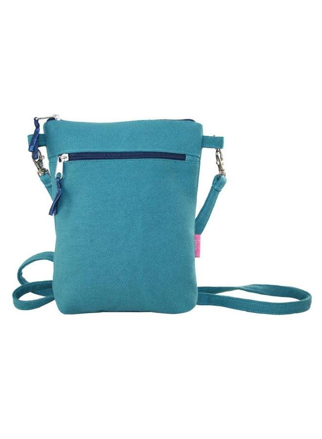 Cross body purse teal 403