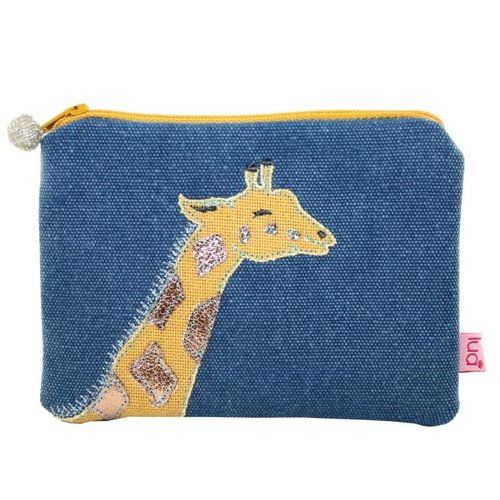 LUA Giraffe embroydered coin purse Petrol 434