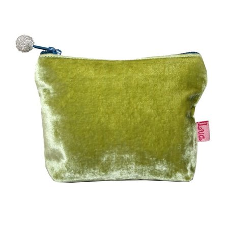 LUA Mini  Velvet Purse Lime Green 452