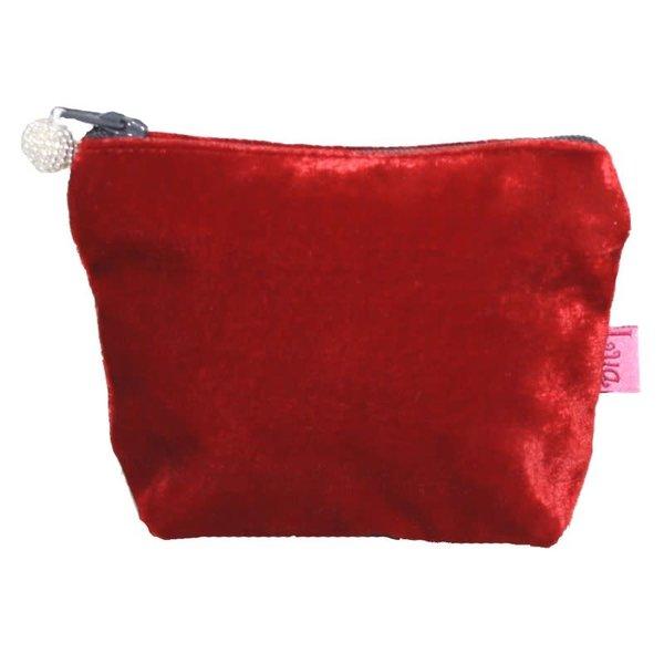 Mini  Velvet Purse Red 296