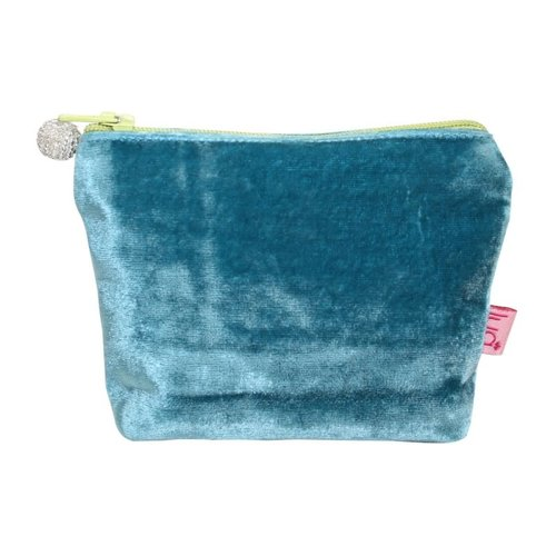 LUA Mini  Velvet Purse Turquoise 453