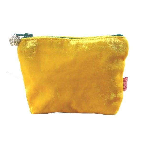Mini  Velvet Purse Yellow 450