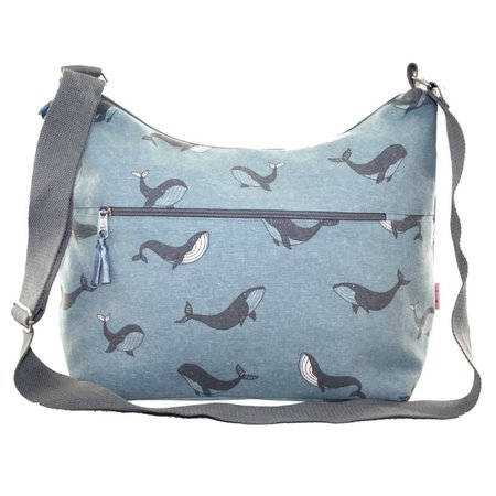 LUA Sling Bag with front zip Whale 407