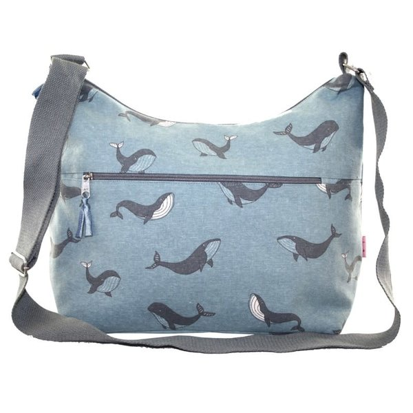 Sling Bag with front zip Whale 407