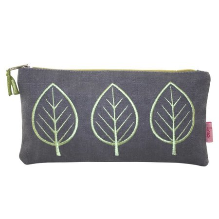 LUA Three Leaf Large  coin purse Mocha grey 445