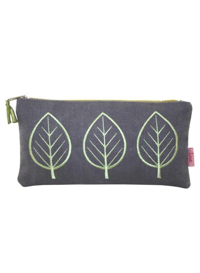 Three Leaf Large  coin purse Mocha grey 445