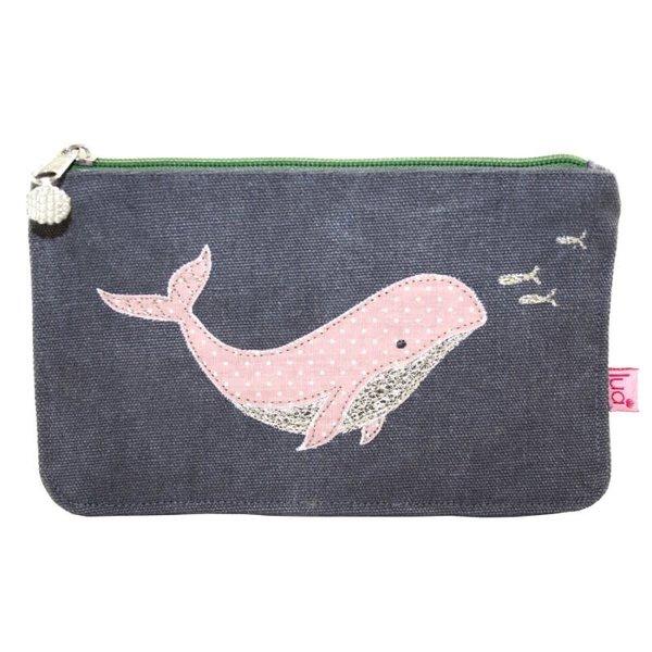 Walvis grote portemonnee mokka grijs 446