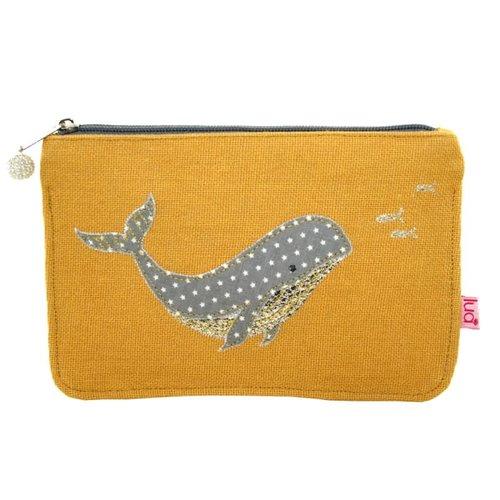 LUA Whale large  coin purse Ochre 447