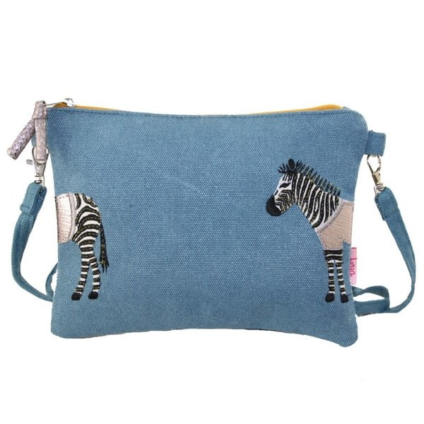 Zebra Applique Mini bag with strap cobalt 402