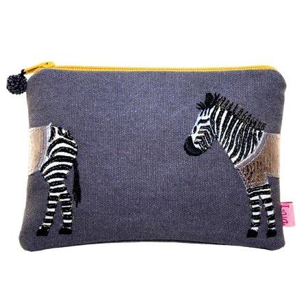LUA Portemonnee met zebra-applicatie Grey 435