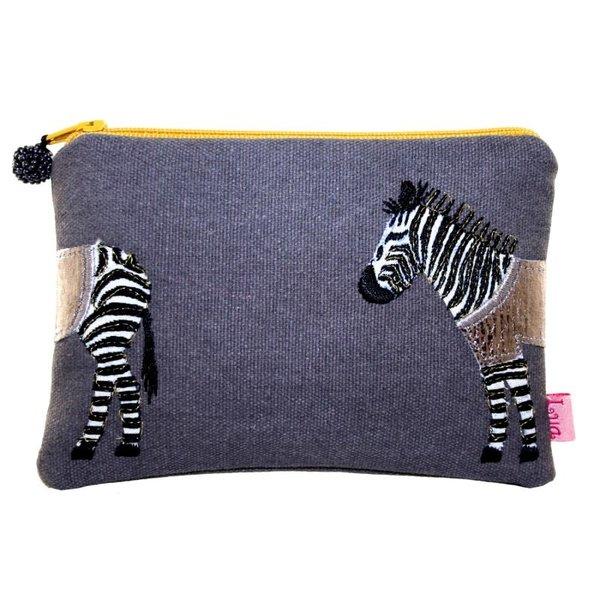 Portemonnee met zebra-applicatie Grey 435
