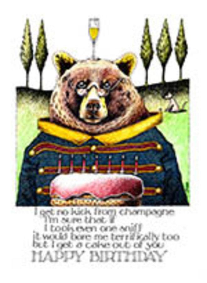I Get a Cake Happy Birthday card 801