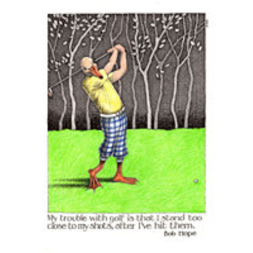 Simon Drew Designs Trouble with Golf card 810