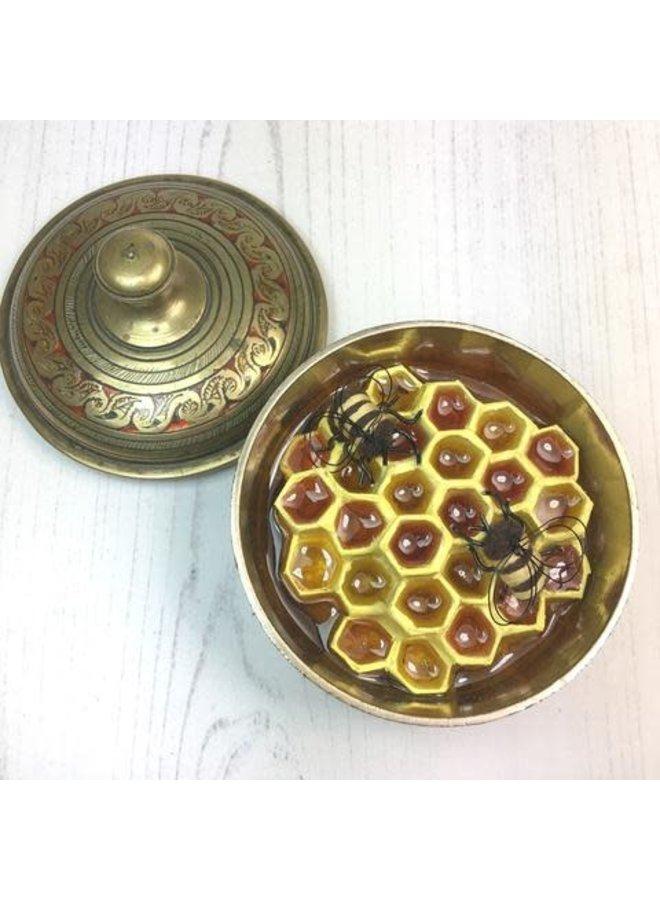 Secret Hive with Indian Brass Trinket  Box No 58 / 66