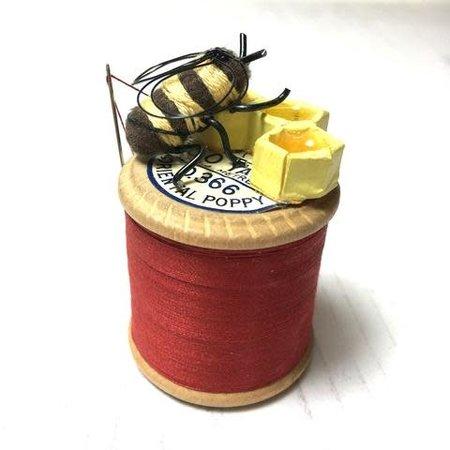 Leigh Shepherd Designs Sewing Bee Oriental Poppy Reel  / 68