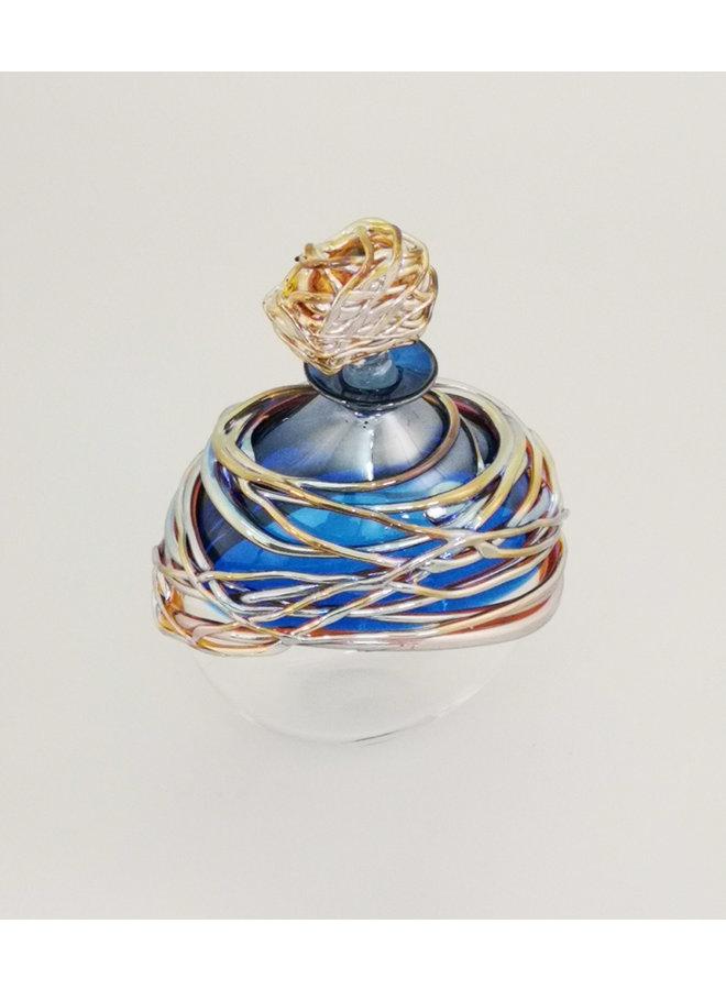 Blau und Gold nachlaufende Duftflasche 31