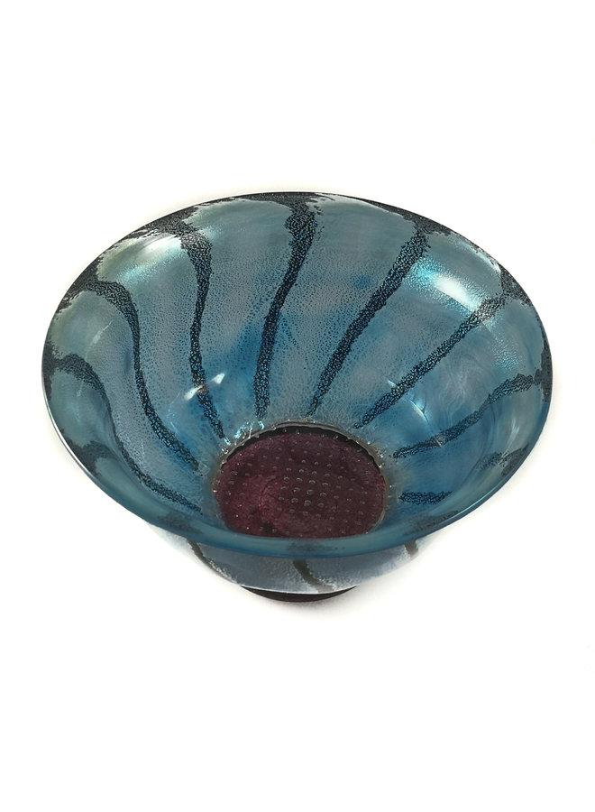 Gänseblümchenschale blau