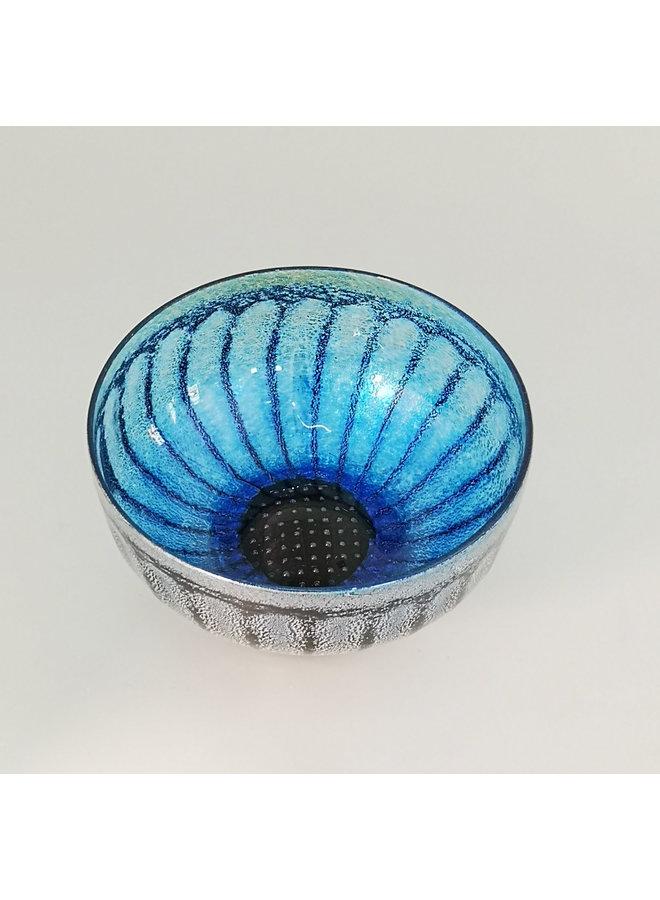 Gänseblümchenschale Nr. 2. blau 17