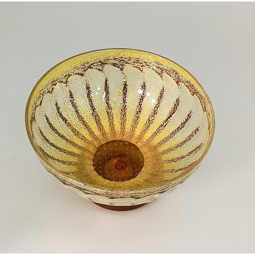 Allister Malcolm Glass Daisy bowl nr. 2. Goud 19