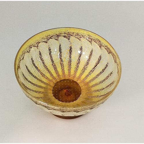 Allister Malcolm Glass Gänseblümchenschale Nr. 2. Gold 19