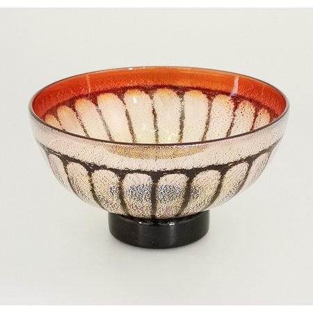 Allister Malcolm Glass Daisy bowl nr. 2. Rose 18