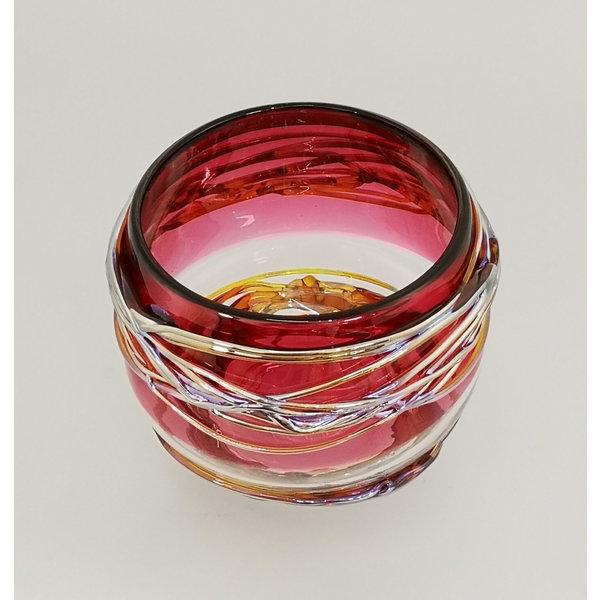 Trailing Bowl in roze en goud 25