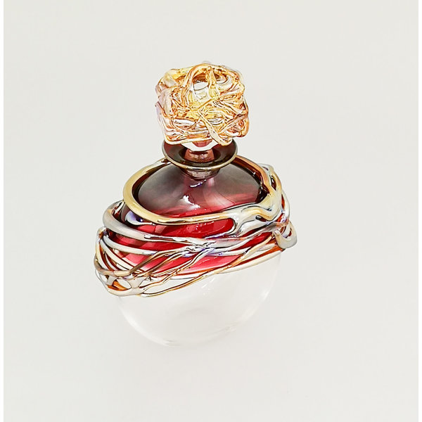 Ruby and Gold Trailing Scent Bottle 30