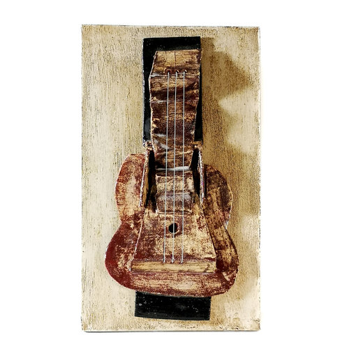 Peter Bielatowicz Guitar 1. after Picasso 1912 013