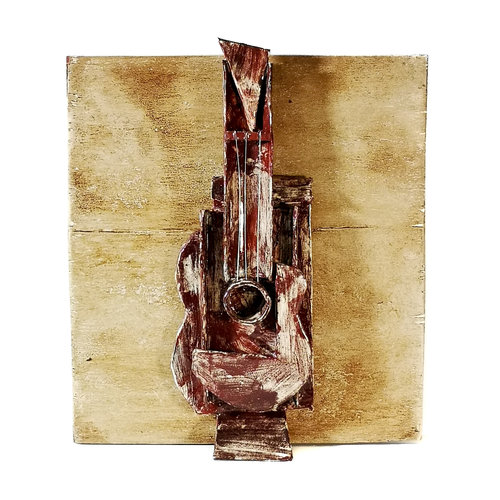 Peter Bielatowicz Guitar 3. after Picasso 1913 015
