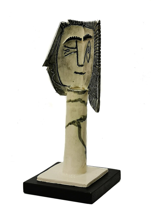 Kopf einer Frau 1. nach Picasso 1957 011