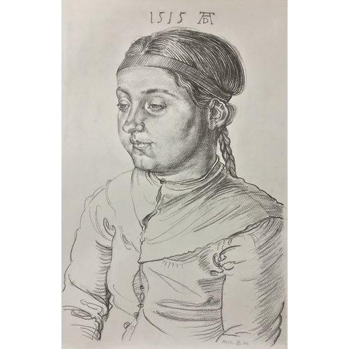 Mike Holcroft Portrait d'une jeune fille d'après Albrecht Durrer 1515-77