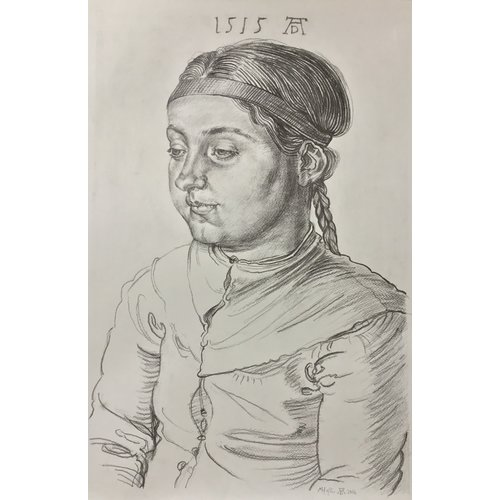 Mike Holcroft Portrait of a Girl after Albrecht Durrer 1515 -  77
